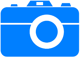 37035 blue camera icon clipart